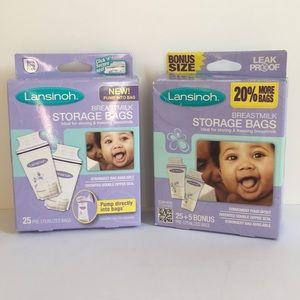 Lansinoh Breastmilk Storage Bags 2 boxes 53 bags